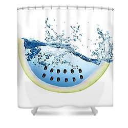 Watermelon Splash Shower Curtain