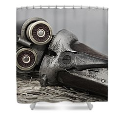Webley And Scott 12 Gauge - D002721a Shower Curtain