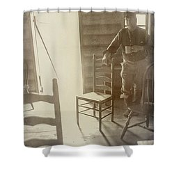 Welcome Shower Curtain by Randall Cogle