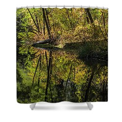 West Fork In Autumn Shower Curtain