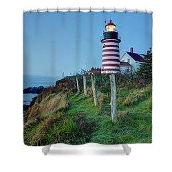 West Quoddy Head Light Shower Curtain