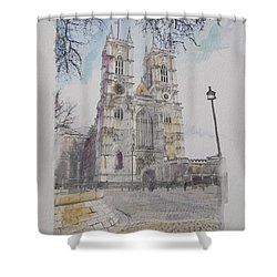 Westminster Abbey Shower Curtain by Roger Lighterness