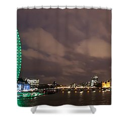 Westminster And The London Eye Shower Curtain by Dawn OConnor