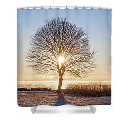 Shower Curtain featuring the photograph Whaleback Sunrise by Robert Clifford