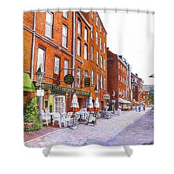 Wharf Street Portland Maine Shower Curtain by Thomas Michael Meddaugh