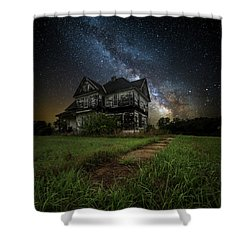 Shower Curtain featuring the photograph What Once Was by Aaron J Groen
