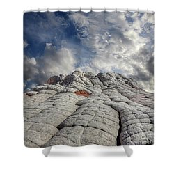 Shower Curtain featuring the photograph Where Heaven Meets Earth 2 by Bob Christopher