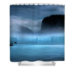 While You Were Sleeping Shower Curtain by John Poon