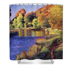 Whispering River Shower Curtain