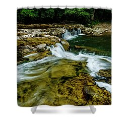 Whitaker Falls In Summer Shower Curtain