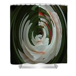 White Form Shower Curtain