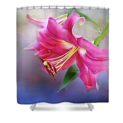 White Hall Lily Shower Curtain