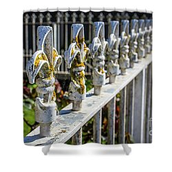 Shower Curtain featuring the photograph White Iron by Perry Webster