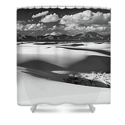 White Sands Afternoon Shower Curtain