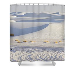 White Sands New Mexico Shower Curtain by Elvira Butler