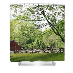 Wick Farm At Jockey Hollow Shower Curtain