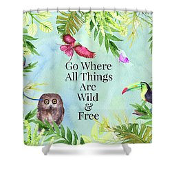 Shower Curtain featuring the digital art Wild And Free by Colleen Taylor