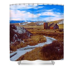 Willow Creek Barn Shower Curtain