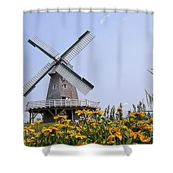 Windmill Shower Curtain by Teresa Zieba