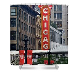 Shower Curtain featuring the photograph Windy City Theater by Frozen in Time Fine Art Photography