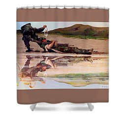 Wings Of Hope Shower Curtain by Todd Krasovetz