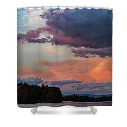 Winnisquam Sunset Shower Curtain