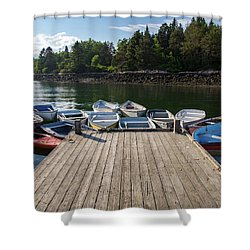 Winter Harbor Maine  Shower Curtain by Trace Kittrell