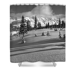 Winter In Banff Shower Curtain