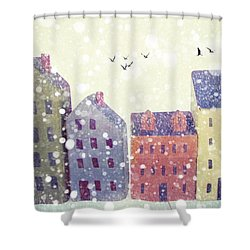 Shower Curtain featuring the photograph Winter In Nantucket by Amy Tyler