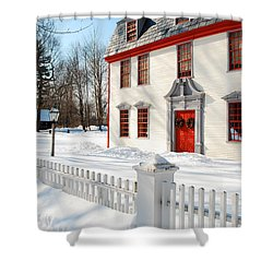 Winter In The Country Shower Curtain by James Kirkikis
