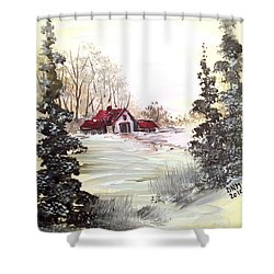 Winter Landscape Shower Curtain by Dorothy Maier