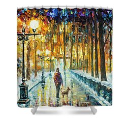 Winter Light  Shower Curtain by Leonid Afremov