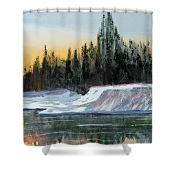 Winter Reflections Shower Curtain by Jack G  Brauer