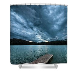Shower Curtain featuring the photograph Winter Storm Clouds by Thomas R Fletcher