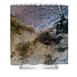 Shower Curtain featuring the painting Winter's Morn by Carolyn Rosenberger
