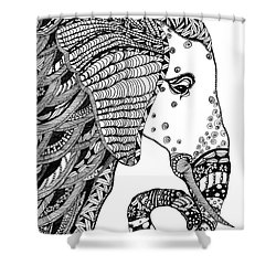 Wise Elephant Shower Curtain