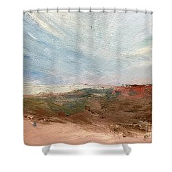 Shower Curtain featuring the painting Witness by Trilby Cole