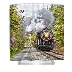 Wmsr Steam Engine 734  Shower Curtain by Jeannette Hunt