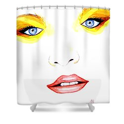 Woman Scent Watercolor Painting Shower Curtain