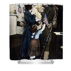 World War I: Deployment Shower Curtain by Granger