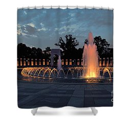 World War II Memorial Fountain Shower Curtain