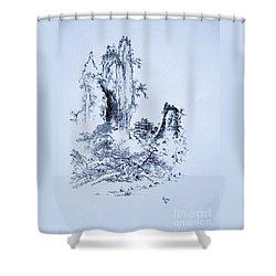 Yama No Fukei Shower Curtain by Roberto Prusso