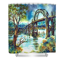 Yaquina Bay Bridge Shower Curtain