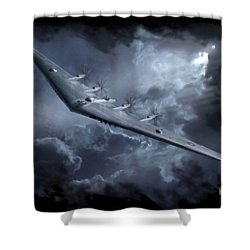 Yb-35 Flying Wing Shower Curtain