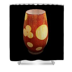 Yellow And White Vase Shower Curtain