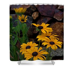 Yellow Beauty Shower Curtain by Cherie Duran