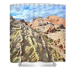 Yellow Brick Road In Valley Of Fire Shower Curtain