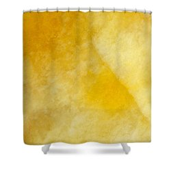 Yellow Shower Curtain by Corinne Rhode