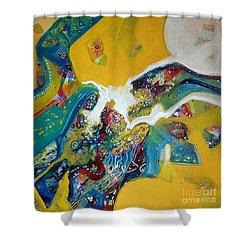 Yellow Harmony Shower Curtain