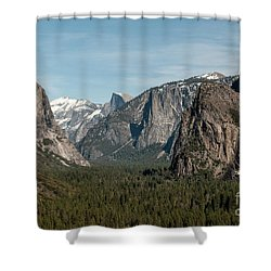 Shower Curtain featuring the photograph Yosemite Valley Afternoon by Sandra Bronstein